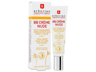 Erborian BB Cream Nude Efecto Transparente 5 en 1 15ml