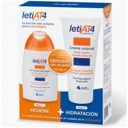 Leti At4 Crema Corporal 200ml + Gel Baño 200ml