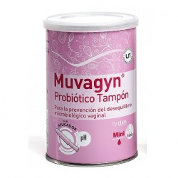 Muvagyn Tampón Probiótico Mini con Aplicador 9 uds.