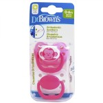 DR. BROWN´S CHUPETE ORTHODONTIC SILICONA 0-6 M 2 UNIDADES