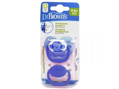 Dr. Brown's Chupete Orthodontic Silicona 0-6m 2 uds.
