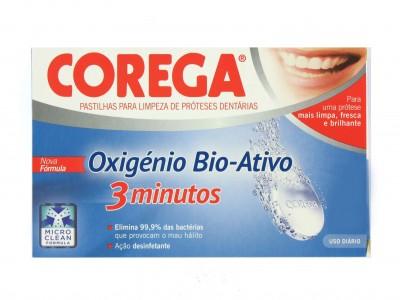 Corega Oxígeno Bio-Activo 3 Minutos 66 Pastillas