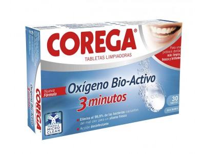 Corega 3 Minutos Bio-Activo 30 Pastillas