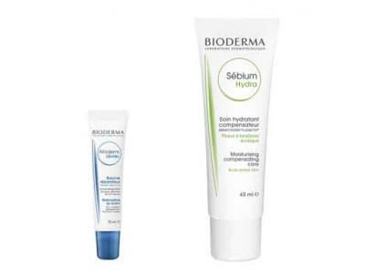 Bioderma Sebium Isokit Sebium Hydra Crema Facial 40ml + Atoderm Bálsamo Labial 15ml