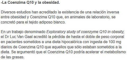 coenzima q10 obesidad