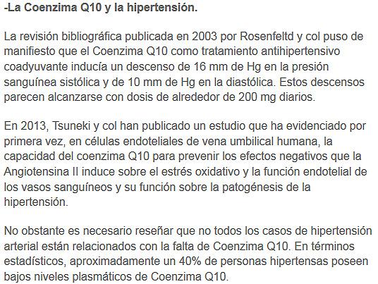 coenzimaq10 y la hipertension