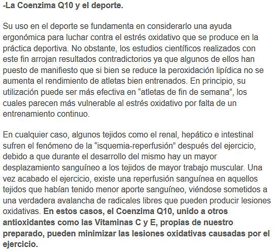 coenzimaq10 y el deporte