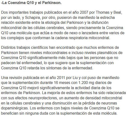coenzimaq10 y parkinson