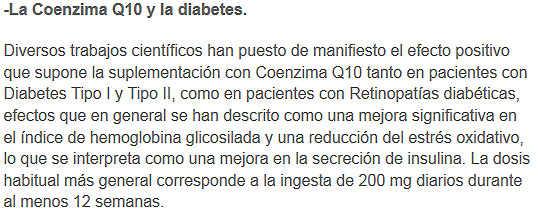 coenzimaq10 y diabetes