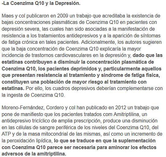 coenzima q10 y depresion