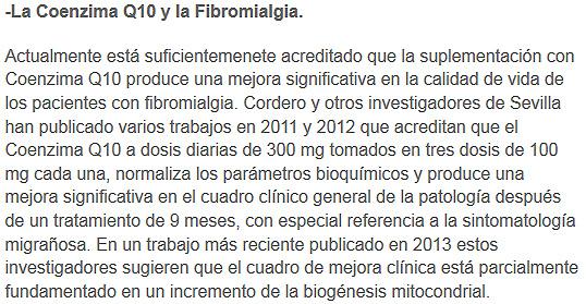 coenzimaq10 y fibromialgia