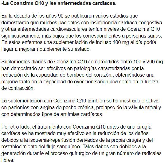 coenzimaq10 y enfermedades cardiacas