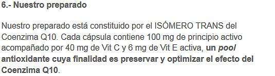 preparado coenzimaq10