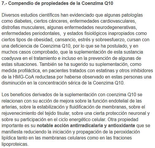 propiedades coenzimaq101