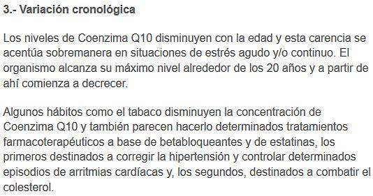 variación coenzimaq10